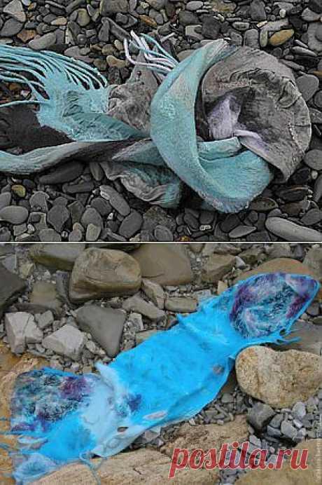 Весенние шарфики, или как сделать длинный шарф из короткого куска шелка - Ярмарка Мастеров - ручная работа, handmade