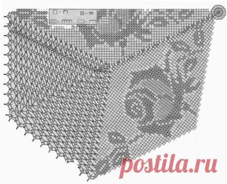 Скатерть с розами Скатерти Вязание для дома Uzelok.Biniko.com
