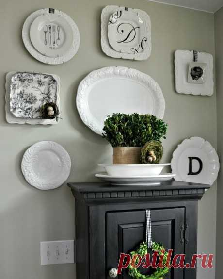 Как повесить тарелки на стену: крепление, держатель без гводей своими руками