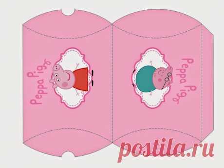 Peppa Pig y su Familia: Cajas Almohada para Imprimir Gratis. | Ideas y material gratis para fiestas y celebraciones Oh My Fiesta!