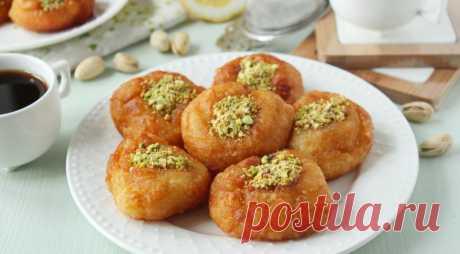 Турецкие пончики «Дамский пупок» (Hanım Göbeği), пошаговый рецепт с фото