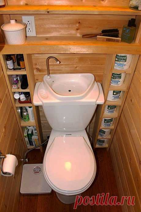 Идея для маленького туалета / Интерьер / ** - Дизайн , дҼƘоǷ ** / Pinme.ru / Larisa