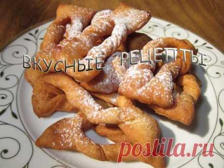 Хворост классический - пошаговый рецепт с фото   Вкусные рецепты