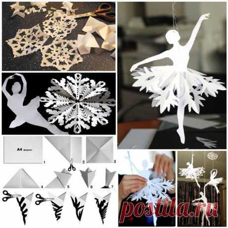 Снежинки из бумаги своими руками. Схемы вырезания и шаблоны для распечатывания.   Частный Дом