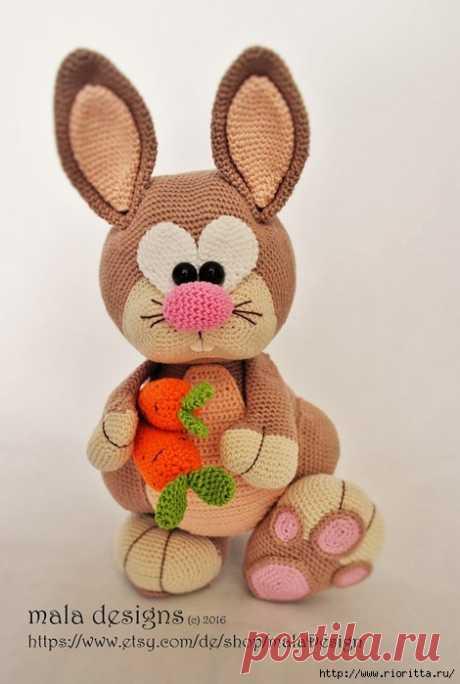 Игрушка-кролик, связанный крючком (описание вязания) | Рукоделие