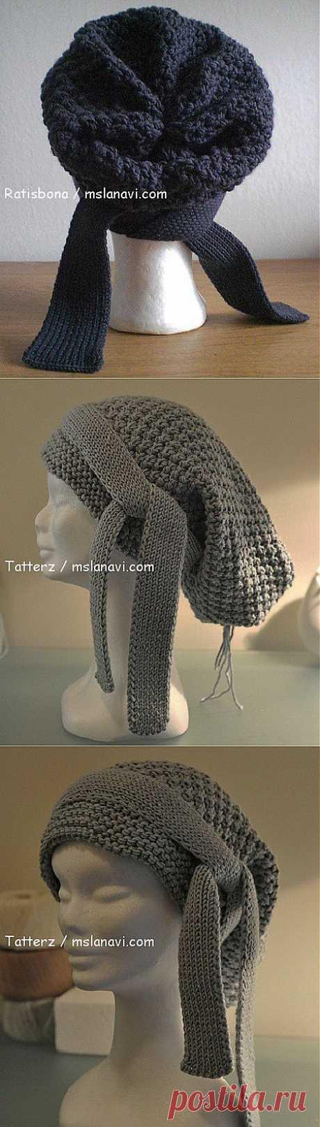 Вязаная шапка-бандана | Вяжем с Ланой