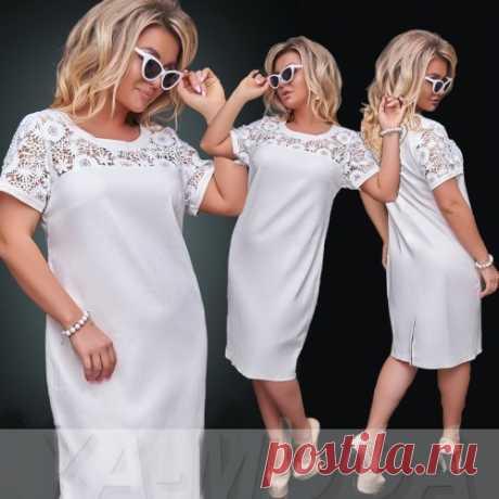 Красивое платье с кружевом в большом размере : новая коллекция. Скидки. Доставка.