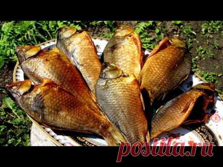 Fish of cold smoking in house conditions, crucians