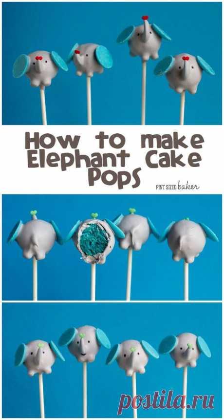 (2) How to make Elephant Cake Pops