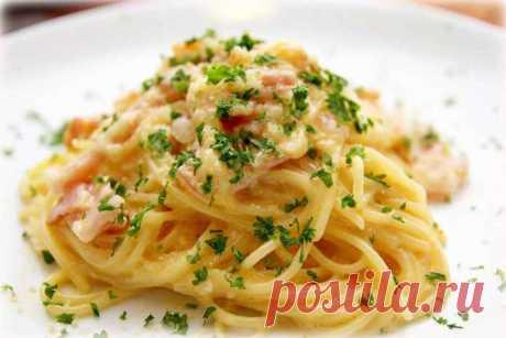 СПАГЕТТИ КАРБОНАРА - Спагетти карбонара. Спагетти карбонара — наверно, самая популярная итальянская паста в всем мире. Секрет её популярности кроется не только в доступности ингредиентов и времени приготовления. Главное — это ее неповторимый вкус, сливочный и нежный. Итак, приступим!
