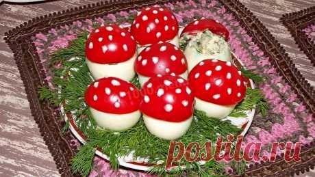 Грибочки из яиц и помидоров рецепт с фото - 1000.menu