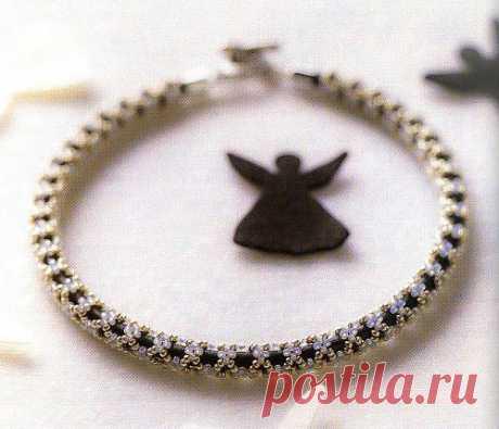 Шнур в бисере / Колье, бусы, ожерелья / Biserok.org