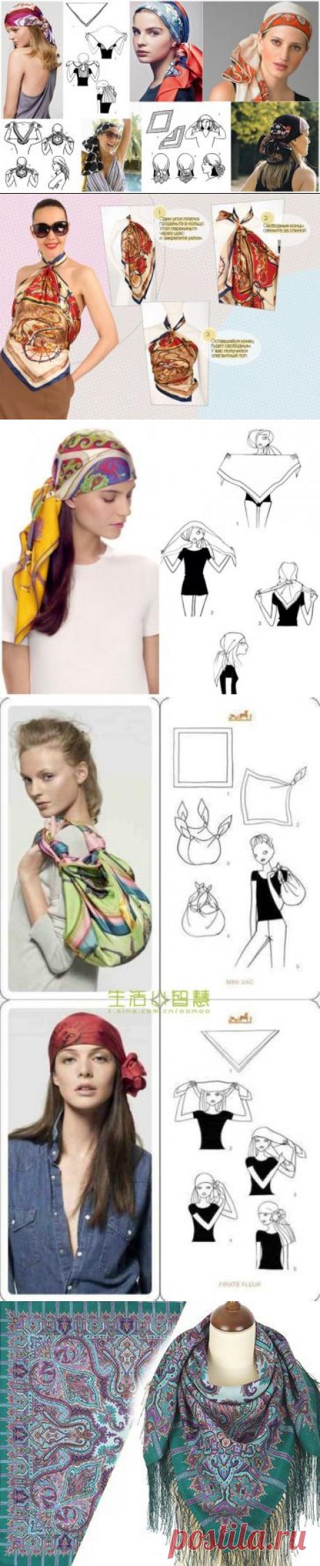 Многоликий шелковый платок: идеи использования — Сделай сам, идеи для творчества - DIY Ideas