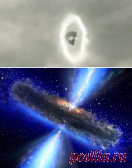 El vídeo: el OVNI sale al portal y debe detrás del avión