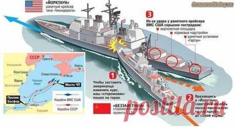 Как советский сторожевик выгнал крейсер США из Черного моря :: социальная сеть родителей
