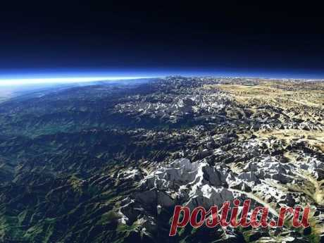 Гималаи, вид из космоса