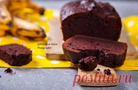 Шоколадно банановый кекс.