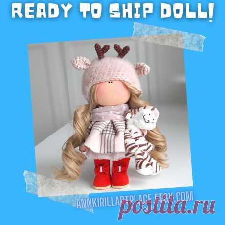 Deer Doll Handmade Christmas Interior Decor Doll Winter | Etsy