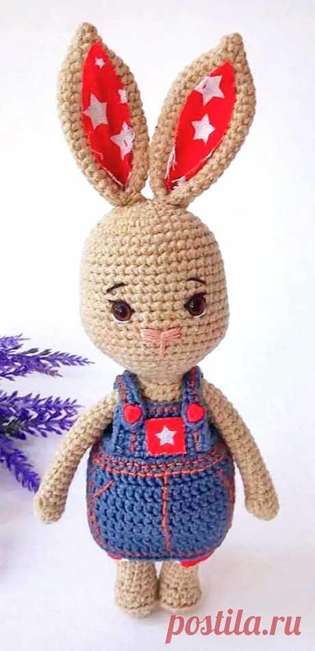 PDF Моя Заинька крючком. FREE crochet pattern; Аmigurumi animal patterns. Амигуруми схемы и описания на русском. Вязаные игрушки и поделки своими руками #amimore - заяц, зайчик, кролик, зайчонок, зайка, крольчонок.