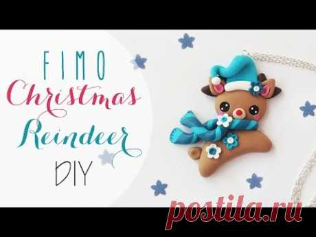 Tuto: Renna natalizia in Fimo - ENG SUBS Fimo clay Christmas Reindeer diy