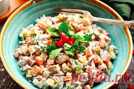 """Салат """"Русь"""" - отличное сочетание продуктов"""