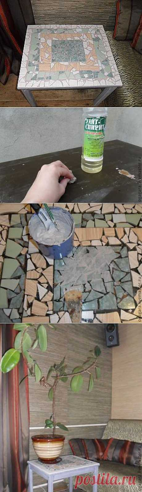 Mosaic little table - the Fair of Masters - handwork, handmade