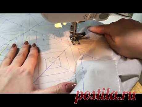 Квилтинг,  Стежка  на бытовой швейной машинке по мотивам Пэчворка