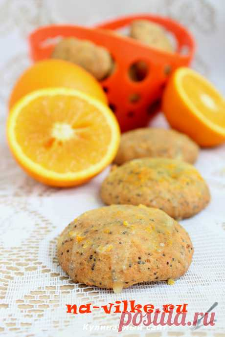 Апельсиновое печенье с творогом и маком - рецепт Апельсиновое печенье с творогом и маком обладает радостно-цитрусовым ароматом и вкраплениями мака, который так приятно похрустывает, да еще и под нежной сахарной глазурью.