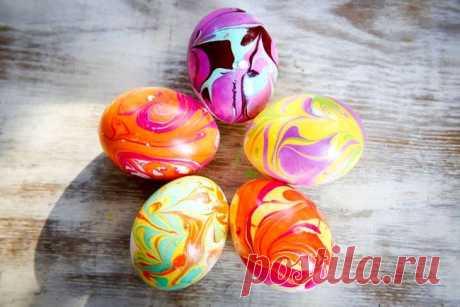 Мастер-класс: мраморные пасхальные яйца