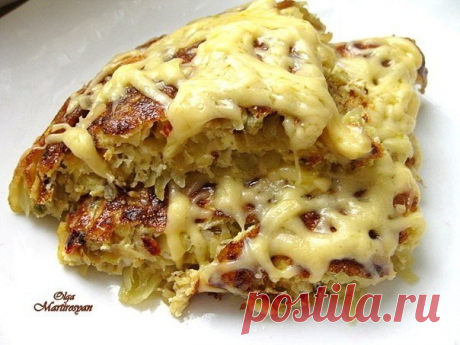 Необычный завтрак или ужин — Картофельный омлет с сыром А-ля тортилья