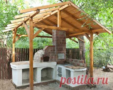 Кухня на свежем воздухе для дачи — 6 соток