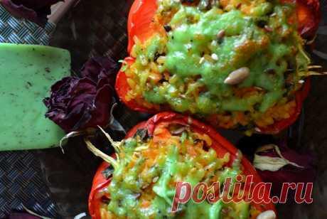 Фаршированные перцы с булгуром и шампиньонами рецепт – турецкая кухня: основные блюда. «Еда»