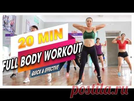 AEROBIC DANCE   Тренировка всего тела - БЫСТРО и ЭФФЕКТИВНО (без оборудования)