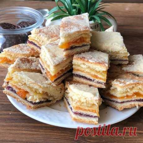 Татарский трёхслойный пирог