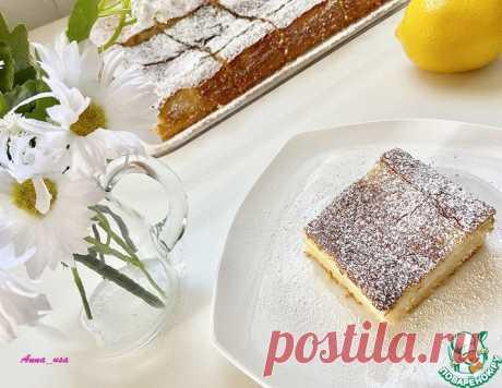Лимонный кремовый пирог – кулинарный рецепт