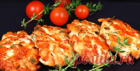 Рубленые куриные котлеты с сыром и помидорами - Пошаговый рецепт с фото