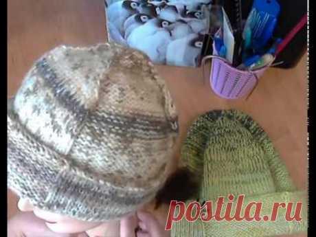 Теплая, мягкая, уютная шапка для мужчин. Вяжется просто. Выглядит стильно. Вальс Бастон.
