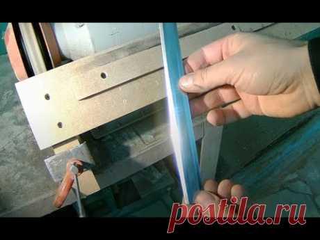 Все в шоке простое приспособление для быстрой заточки ножей рейсмуса  фуганка и строгального станка!