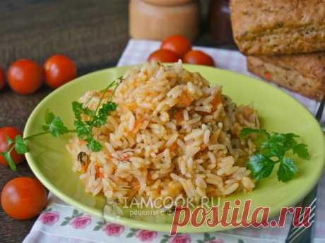 Рис с помидорами — рецепт с фото Простой, но вкусный гарнир из риса и помидоров.