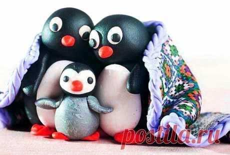 Пингвин из полимерной глины своими руками | 33 Поделки
