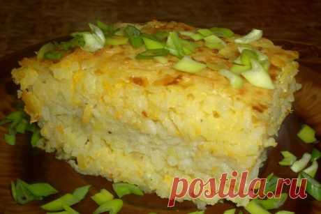 Запеканка «Воздушная» с рисом и мясом