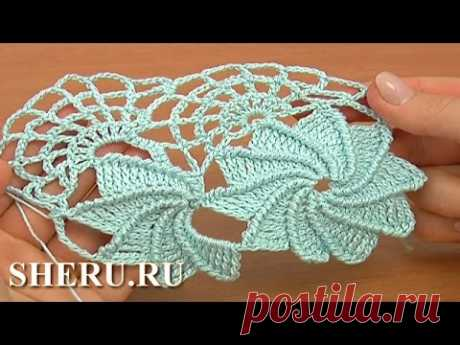How TO Crochet Spider Web Lace the Lesson 23 part of 2 of 2 Tape lace with a spider line