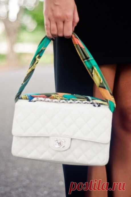 Апгрейд сумки платком