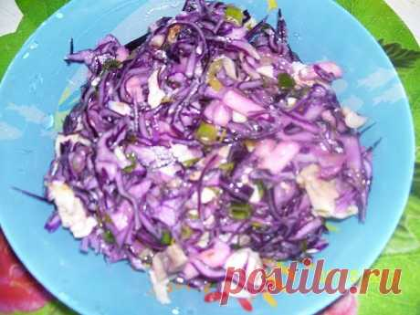 Салат из краснокочанной капусты. | 4vkusa.ru