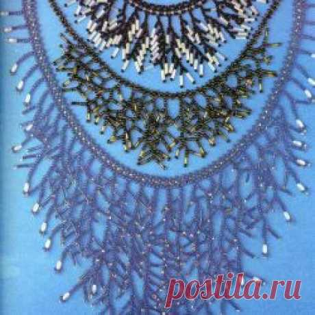 Комплекты «Иней» / Колье, бусы, ожерелья, Серьги / Biserok.org