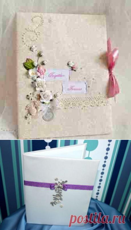 Свадебная обложка для свидетельства. Идеи   LaChat