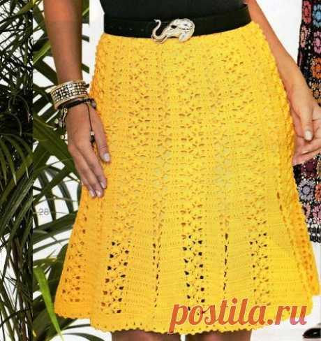 Красивая юбка крючком.