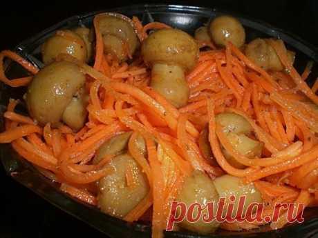 Грибы по-корейски  понадобится:  - 1 кг... / Еда и напитки / Грибы / Pinme.ru