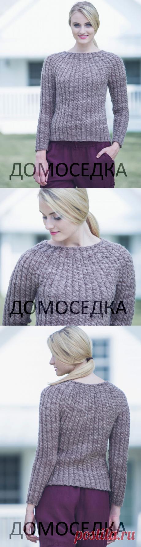 Вязание пуловера косами | ДОМОСЕДКА