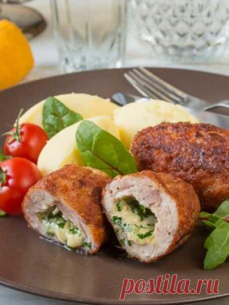 Как приготовить Куриные котлеты с сырным зеленым маслом - проверенный пошаговый рецепт с фото на Вкусном Блоге